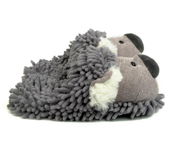 Fuzzy Koala Slippers 2