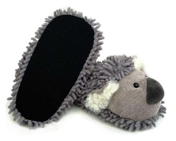 Fuzzy Koala Slippers 3