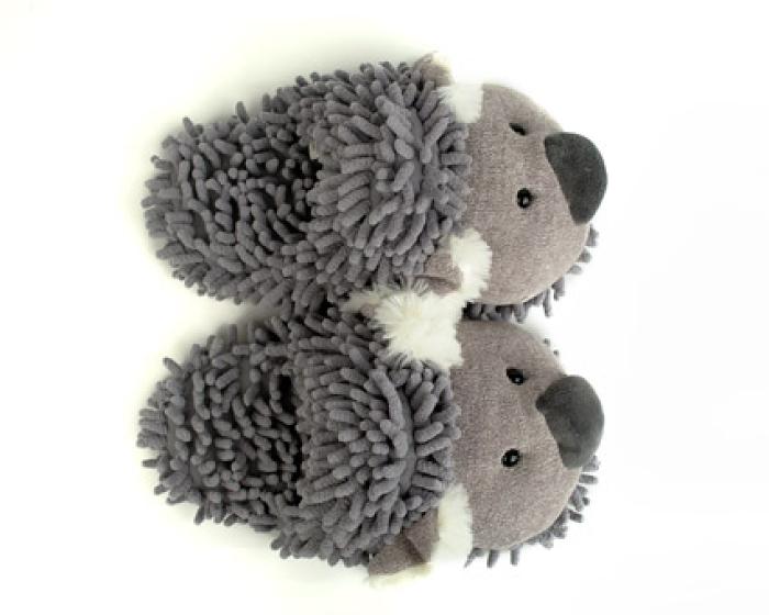 Fuzzy Koala Slippers 4
