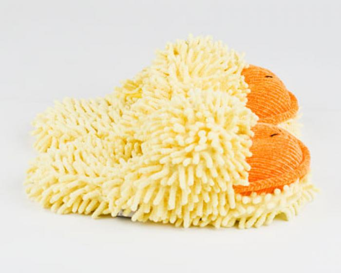 Fuzzy Duck Slippers 2