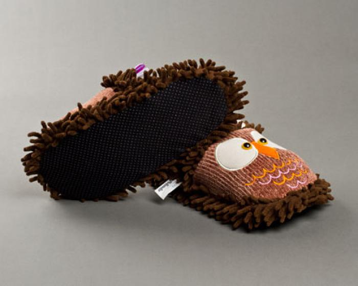Fuzzy Owl Slippers 3