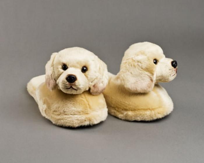 Yellow Labrador Dog Slippers 1