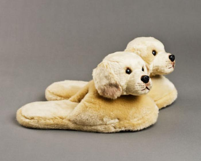 Yellow Labrador Dog Slippers 2