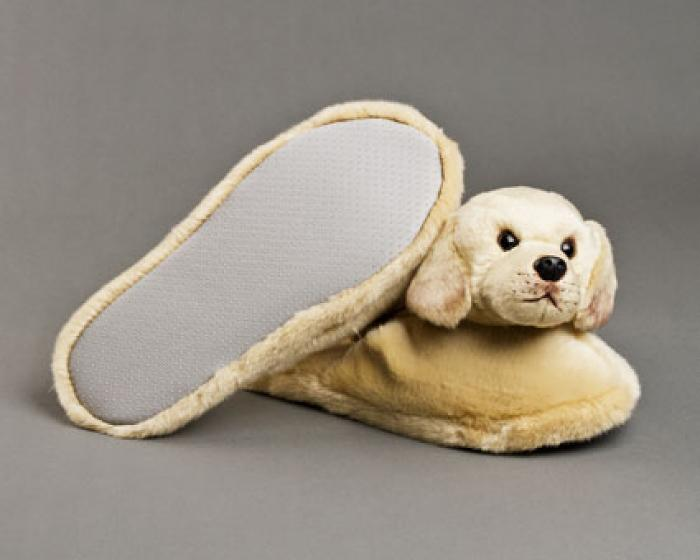 Yellow Labrador Dog Slippers 3