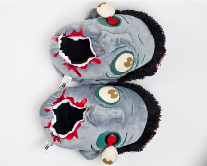 Blue Zombie Slippers 4