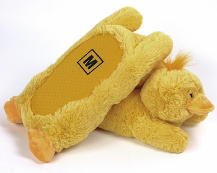 Fuzzy Yellow Duck Slippers 3