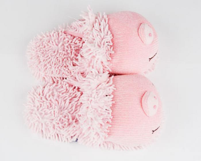 Fuzzy Pig Slippers 4