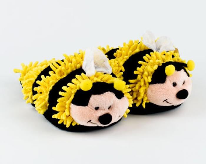 Fuzzy Bee Slippers 1
