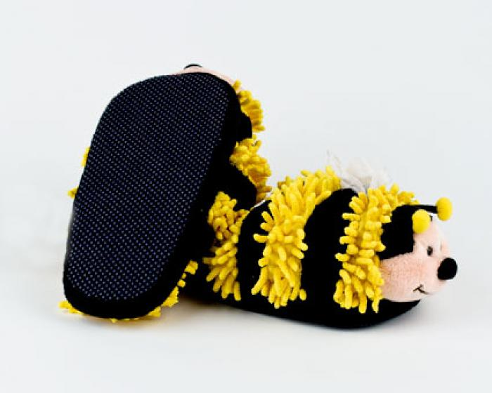 Fuzzy Bee Slippers 3