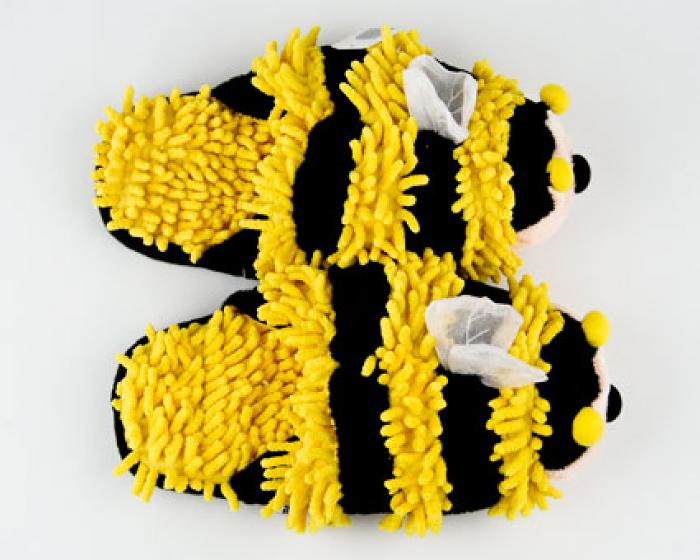 Fuzzy Bee Slippers 4
