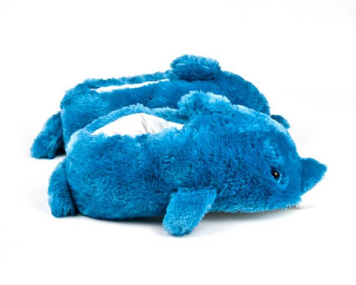 Blue Dolphin Animal Slippers 2