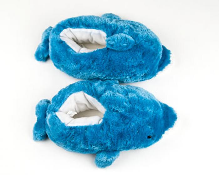 Children's Blue Dolphin Animal Slippers 4