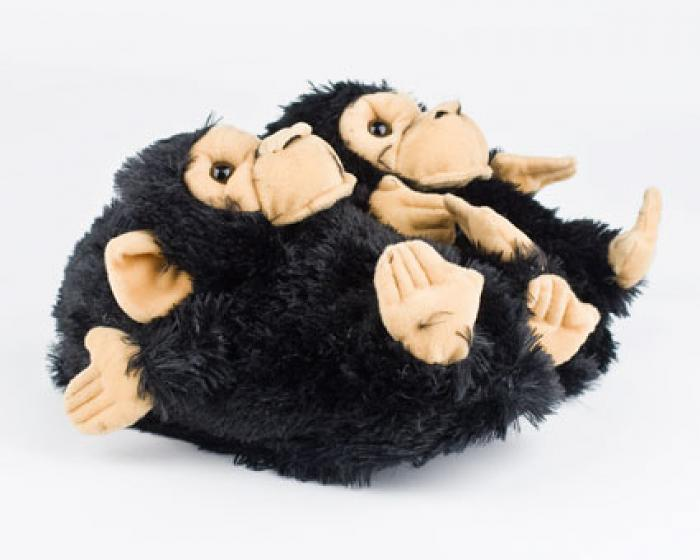 Black Monkey Animal Slippers 1