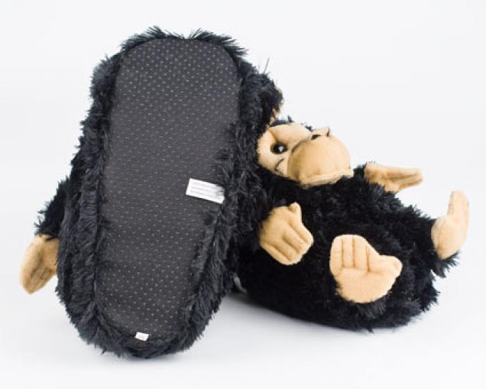 Black Monkey Animal Slippers 3