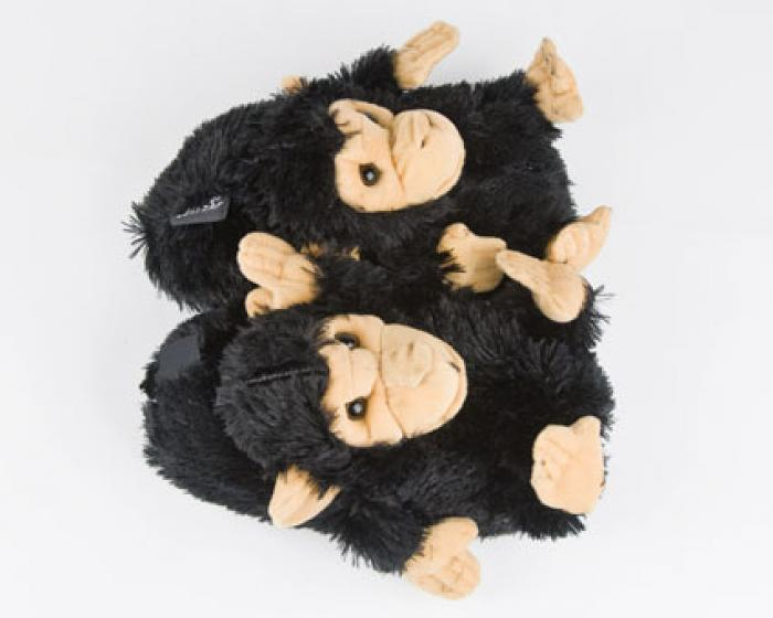 Black Monkey Animal Slippers 4