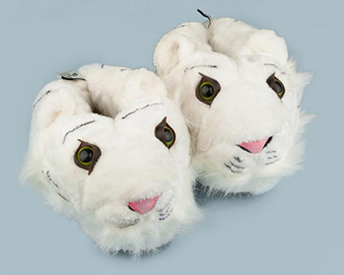 White Tiger Slippers 1