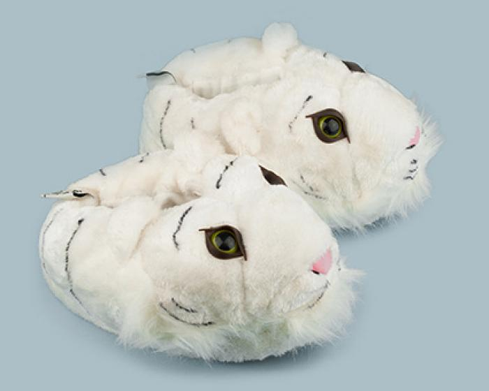 White Tiger Slippers 2