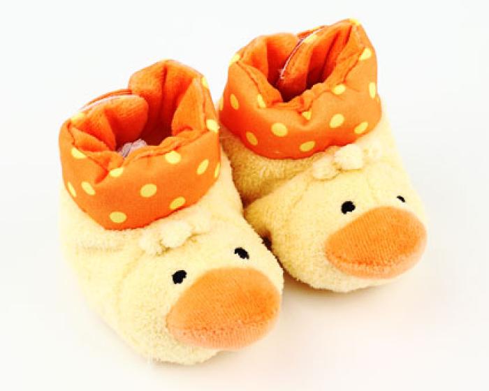 Duck Baby Booties 1