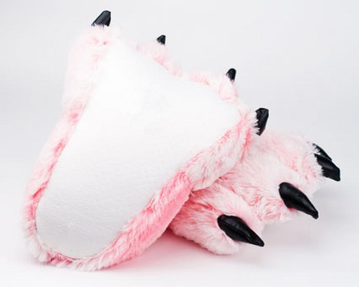 Pink Tiger Paw Slippers 3