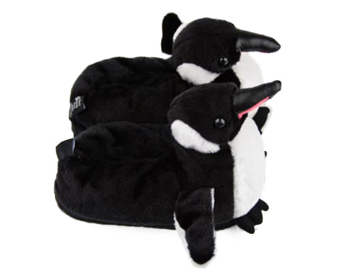 Penguin Slippers Top View
