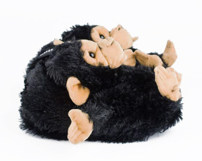 Black Monkey Animal Slippers 2