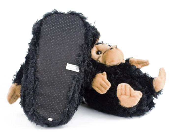 Black Monkey Animal Slippers 3