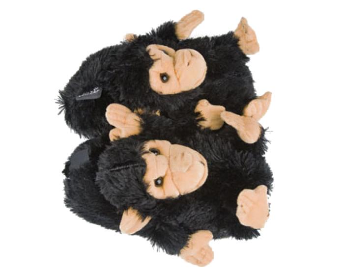 Black Monkey Animal Slippers 4