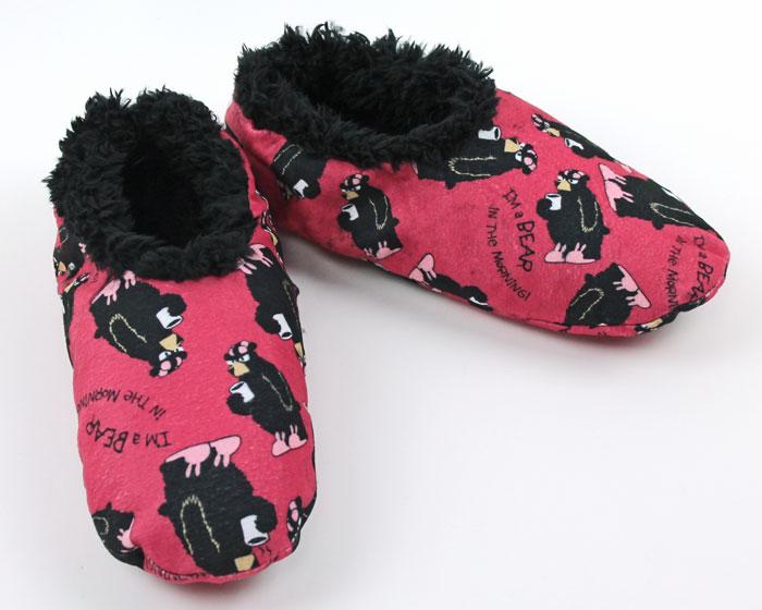 Bear in the Morning Fuzzy Feet Slippers