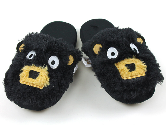 Black Bear Critter Slippers 1