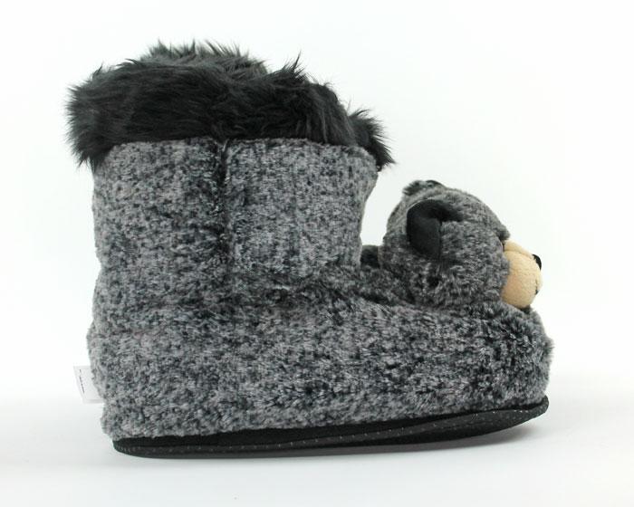 Black Bear Slipper Boots
