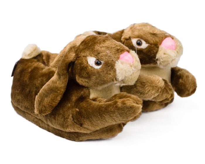 Brown Bunny Rabbit Slippers 1