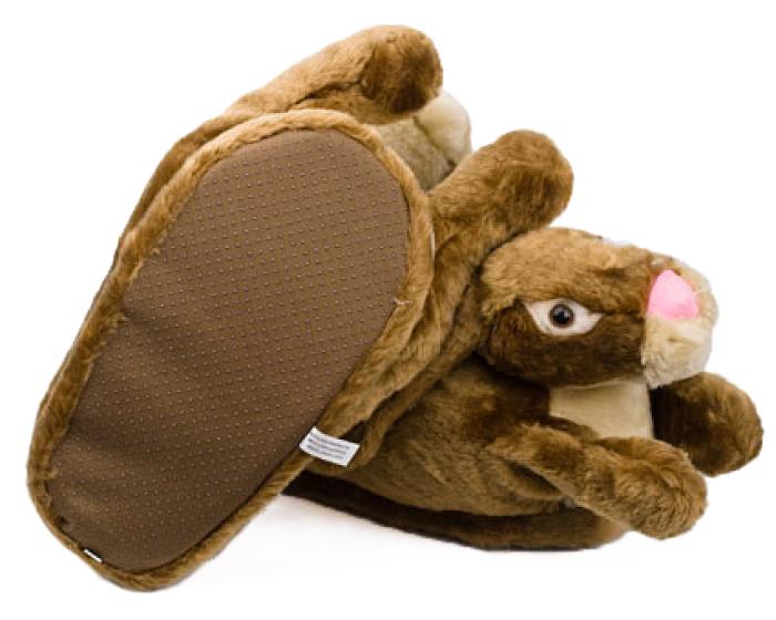 Brown Bunny Rabbit Slippers 3