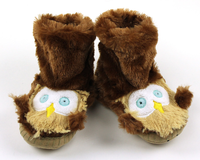 Children's Owl Slouch Slippers 1