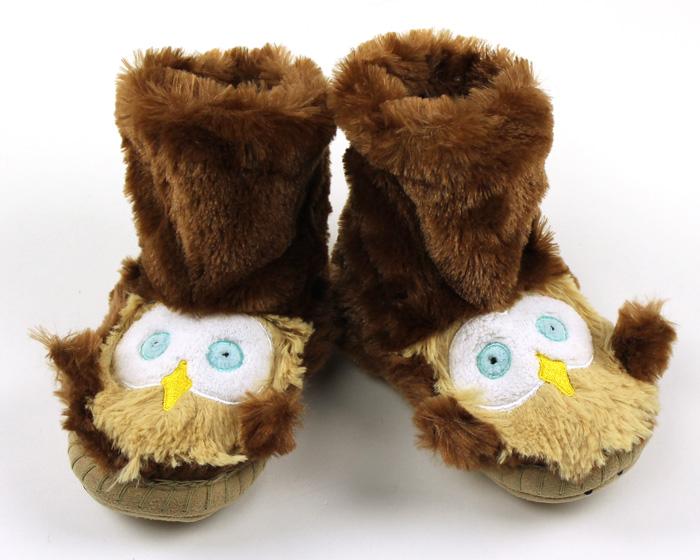 Children's Owl Slouch Slippers 1