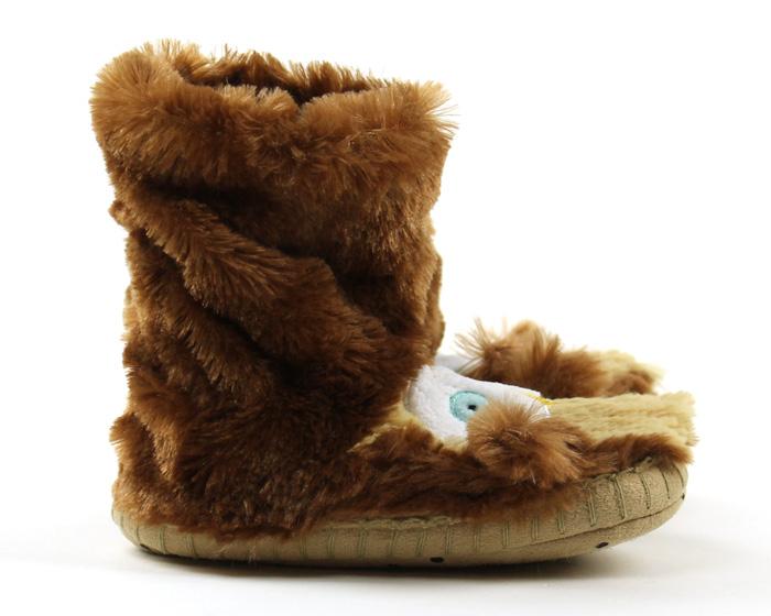 Children's Owl Slouch Slippers 2