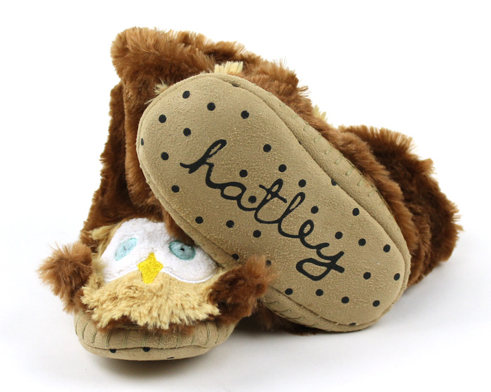 Children's Owl Slouch Slippers 3