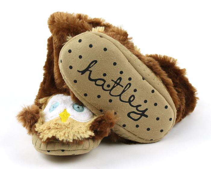 Children's Owl Slouch Slippers 3
