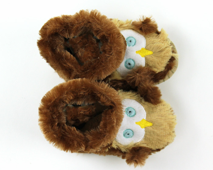 Children's Owl Slouch Slippers 4