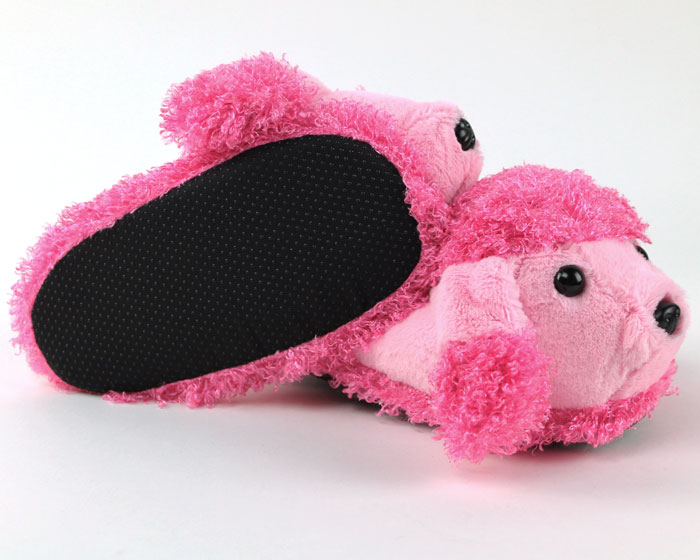 Children's Pink Poodle Slippers 3