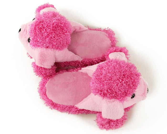 Children's Pink Poodle Slippers 4