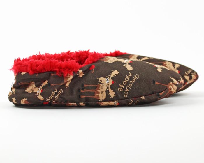 Chocolate Moose Fuzzy Feet Slippers 2