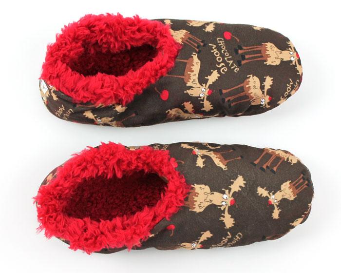 Chocolate Moose Fuzzy Feet Slippers 4