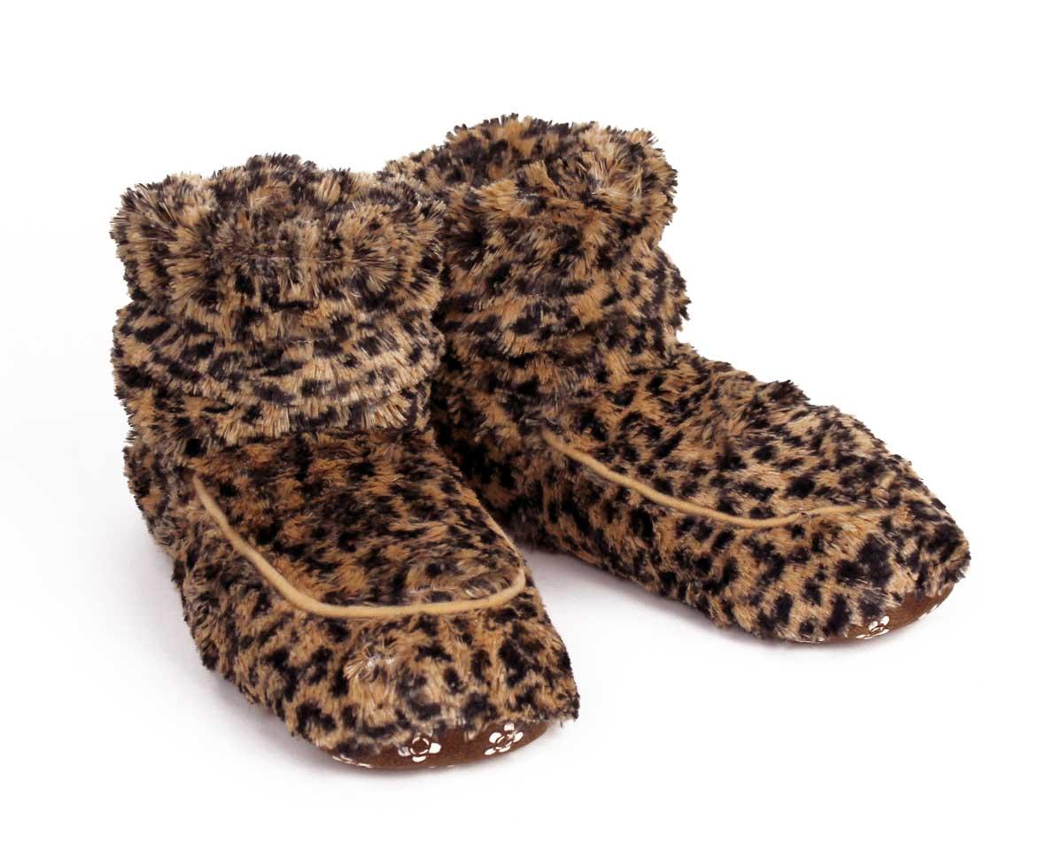 Cozy Leopard Slipper Boots View 1