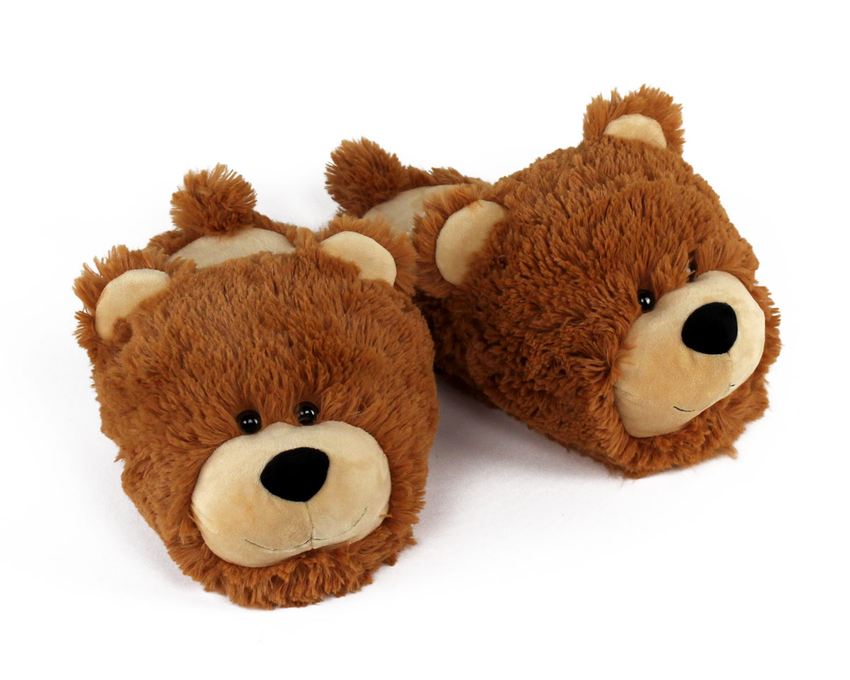 Fuzzy Bear Slippers Teddy Bear Slippers Bear Slippers