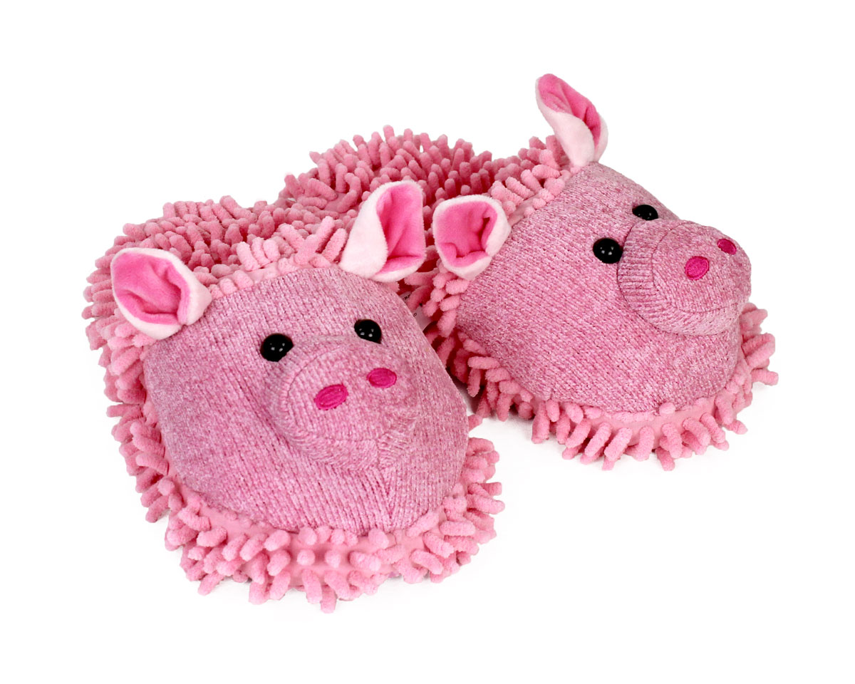 1df5ebba9020 Fuzzy Pig Slippers View 1 ...