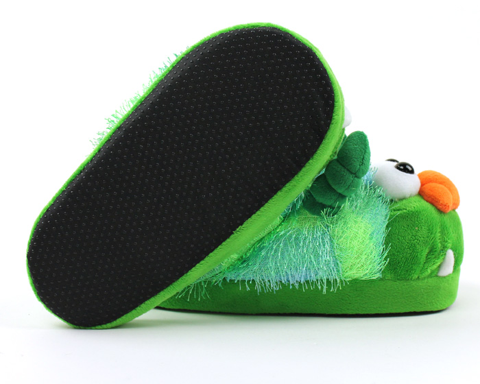 Children's Green Monster Slippers 3