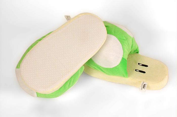 Green Mushroom Slippers