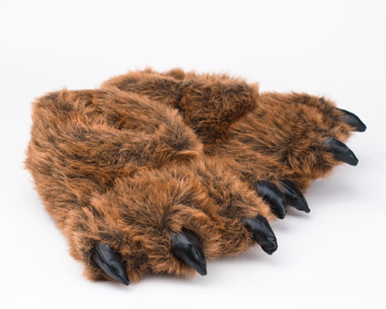 Grizzly Bear Paw Slippers Grizzly Bear Slipper Bear
