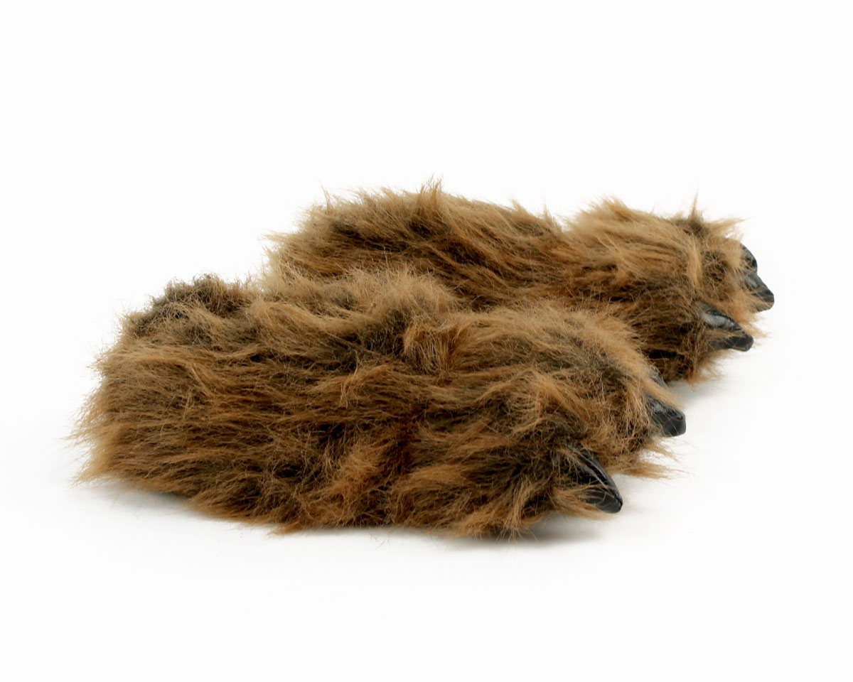 c454a614ba82 ... Kids Grizzly Bear Paw Slippers View 2 ...