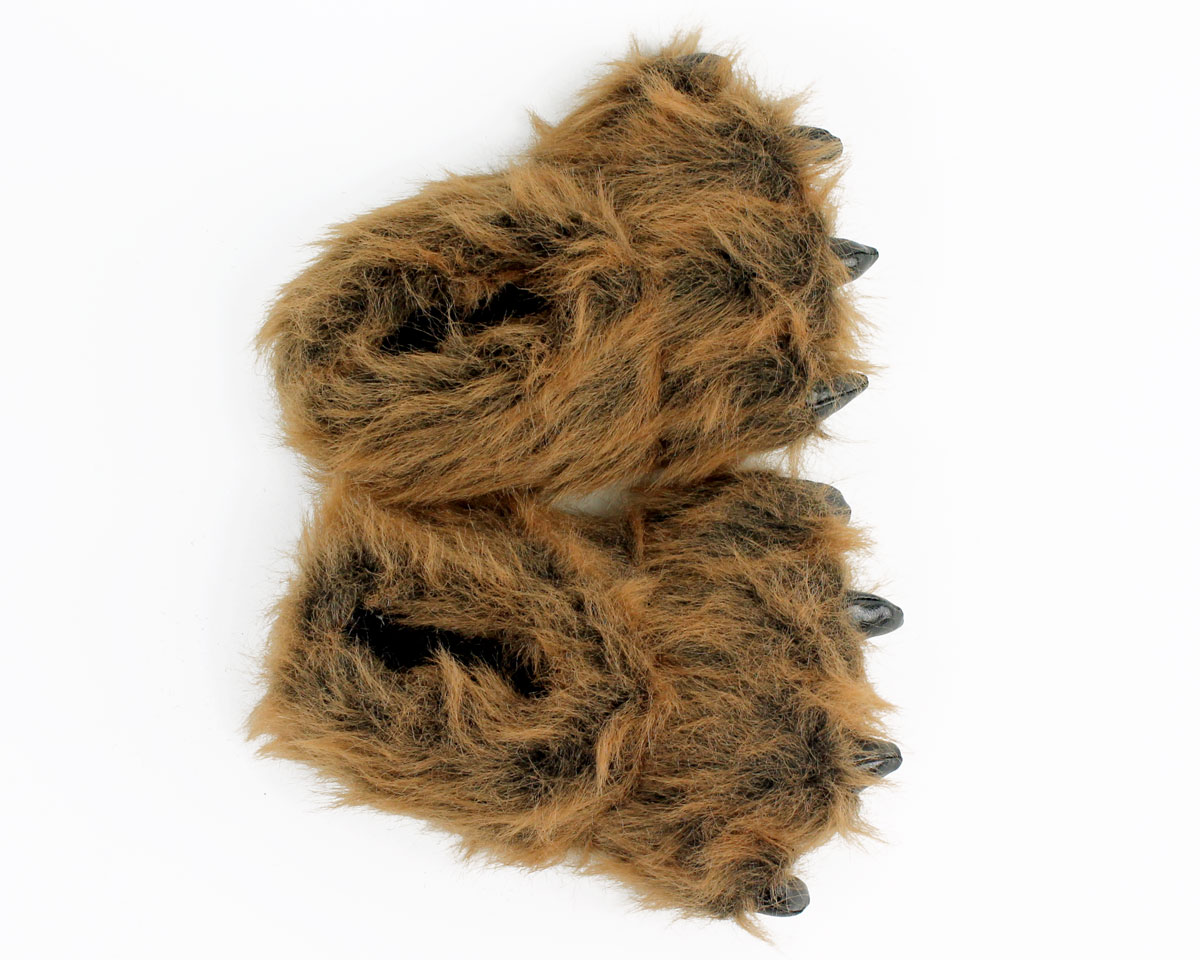 d3f9c05ecb7 ... 2 Kids Grizzly Bear Paw Slippers View 3 ...